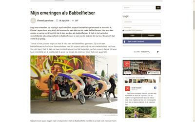 Babbelfiets in I Love Hasselt